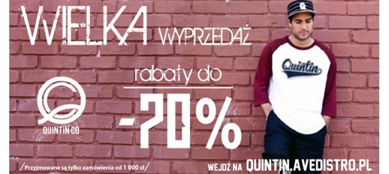 Wyprzedaż produktów Quintin!